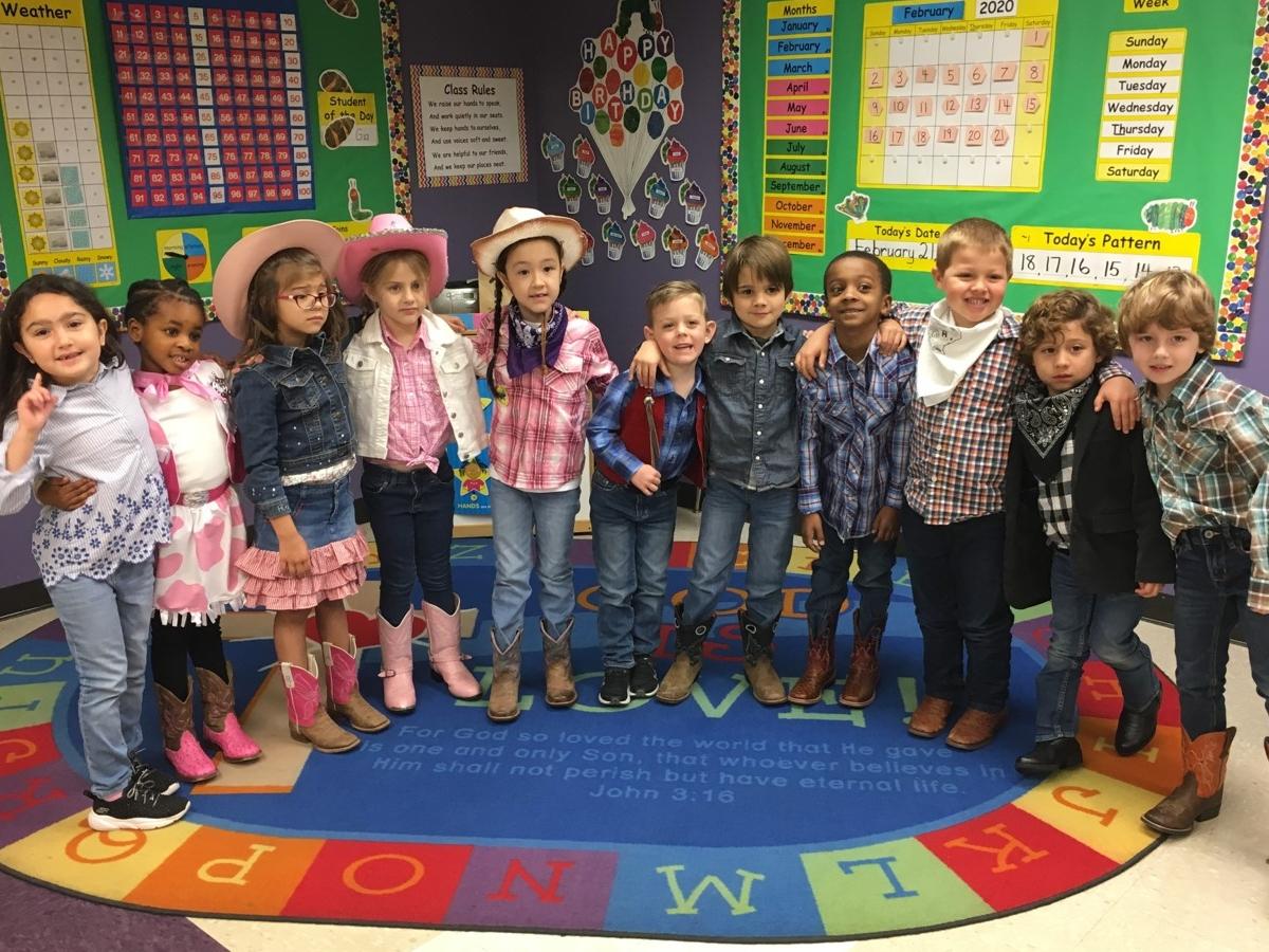 Kindergarten on Go Texan Day 2020